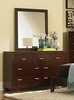 Tiffany Dresser with Mirror in Country Cherry - Coaster - 200763-64-SET
