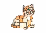 Tiger Cat Accent Lamp - Dale Tiffany