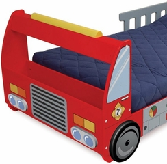 Toddler Bed - Fire Truck Toddler Cot - KidKraft Furniture - 76021