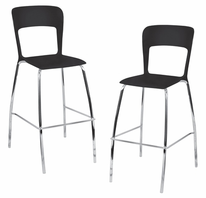 Tone Barstool Black (Set of 2) - LumiSource - BS-TONE-BK2
