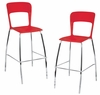 Tone Barstool Red (Set of 2) - LumiSource - BS-TONE-R2