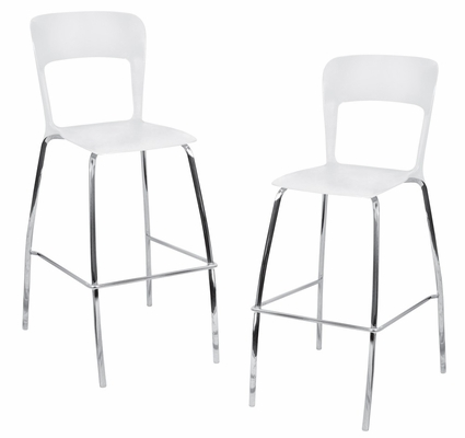 Tone Barstool White (Set of 2) - LumiSource - BS-TONE-W2