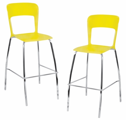 Tone Barstool Yellow (Set of 2) - LumiSource - BS-TONE-Y2