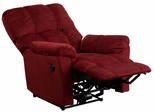 Top Hat Berry Microfiber Power Recliner - AM-P9320-4170-GG