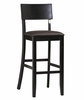 "Torino Contemporary Bar Stool 30"" - Linon Furniture - 01855BLK-01-KD-U"
