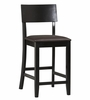 "Torino Contemporary Counter Stool 24"" - Linon Furniture - 01854BLK-01-KD-U"
