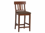 "Torino Slat Back Bar Stool 30"" - Linon Furniture - 01849DKCHY-01-KD-U"