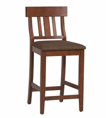 "Torino Slat Back Counter Stool 24"" - Linon Furniture - 01848DKCHY-01-KD-U"