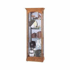 Torrington Display Cabinet in Golden Oak - Howard Miller