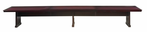 Toscana 18 Feet Rectangular Conference Table in Mahogany - Mayline Office Furniture - TC18MAH