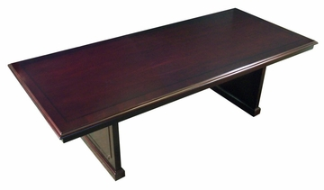 Toscana 8 Feet Rectangular Conference Table in Mahogany - Mayline Office Furniture - TC96MAH