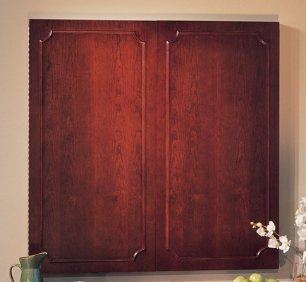 Toscana White Board Cabinet in Mahogany - Mayline Office Furniture - TCWB