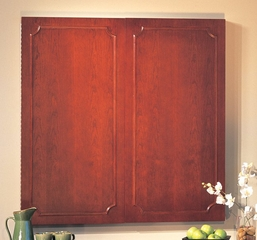 Toscana White Board Cabinet in Sierra Cherry - Mayline Office Furniture - TCWB