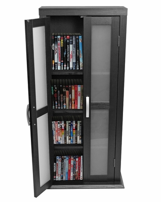 Tower - 41 Inch Wood DVD Tower in Black - DT41BL
