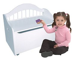 Toy Box - Limited Edition Toy Chest in White - KidKraft Furniture - 14101