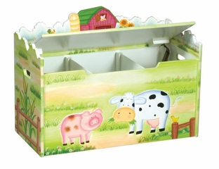 Toy Box - Litle Farm House Toy Box - Guidecraft - G83564