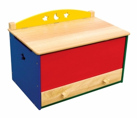 Toy Box - Moon and Stars Toy Box in Multi Color - Guidecraft - G98038