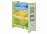 Toy Storage Bookcase with Tubs - 6402
