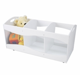 Toy Storage - See-Thru Bins in White - KidKraft Furniture - 15770