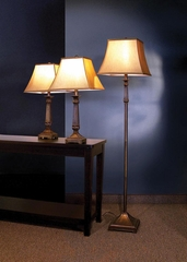 Traditional 3PC Lamp Set in Bronze - 901160