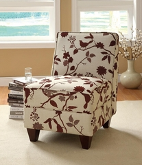 Traditional Armless Accent Chair with Wood Legs - 460408