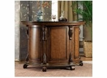 "Traditional Bar with Black Granite Top - Bourbon Street ""Yorktown Cherry"" - Powell Furniture - 579-920"