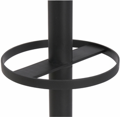 Traditional Black ALBA Floor Coat Stand - 16 Plastic Coat Pegs