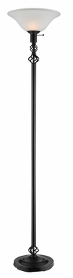 Traditional Brushed Nickel Floor Lamp - 901498