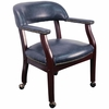 Traditional Captain's Chair with Navy Vinyl - B-Z100-NAVY-GG