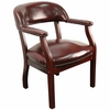 Traditional Captain's Chair with Oxblood Vinyl - B-Z105-OXBLOOD-GG