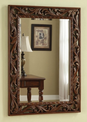 Traditional Scrolled Leaf Wall Mirror - 901739