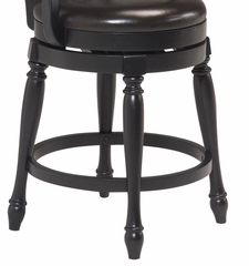 Traditional Swivel Bar Stool in Black - Home Styles - 5008-88