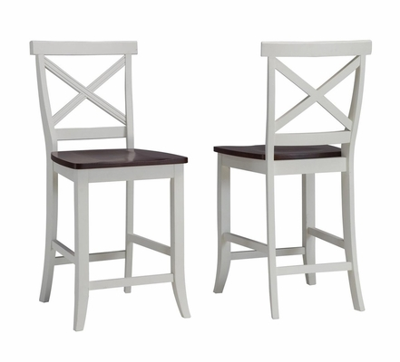 Traditions Bar Stool in White / Cherry - Home Styles - 5007-89