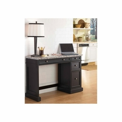 Traditions Black Utility Desk with Salt and Pepper Granite Top - Home Styles - HS-5003-793