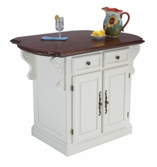 Traditions Kitchen Island in White / Cherry - Home Styles - 5007-94