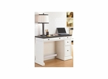 Traditions White Utility Desk with Black Granite Top - Home Styles - HS-5002-794