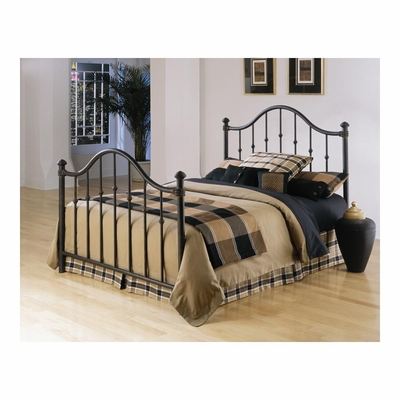 Trafalgar Metal Bed in Bark - Largo - LARGO-ST-4375XHF