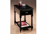 Transitional Chairside Table in Antique Black - 1034-7