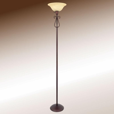 Transitional Crimson Coffee Floor Lamp Floor Lamp - 901194