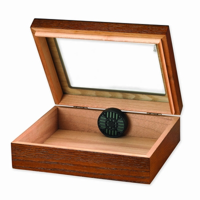 Traveler 20 Cigar Humidor with Glass Top - HUM-TR20G-W