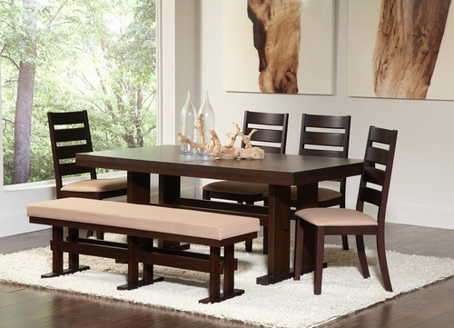 Travis Contemporary Six Piece Dining Set - 104081