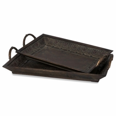 Trays (Set of 2) - IMAX - 47048-2