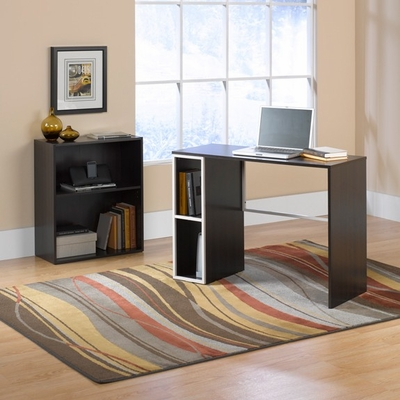 Treble Desk Bookcase Combo Twine / Cocoa Oak - Sauder Furniture - 412180