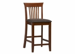 Triena Craftsman Counter Stool - Linon Furniture - 01857DKCHY-01-KD-U