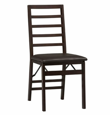 Triena Ladder Back Folding Chair (Set of 2) - Linon Furniture - 01827ESP-02-AS-U