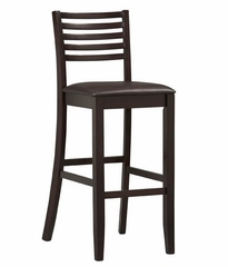 "Triena Ladder Bar Stool 30"" - Linon Furniture - 01864ESP-01-KD-U"