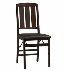 Triena Slat Back Folding Chair (Set of 2) - Linon Furniture - 01828ESP-02-AS-U