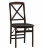 Triena X Back Folding Chair (Set of 2) - Linon Furniture - 01826ESP-02-AS-U