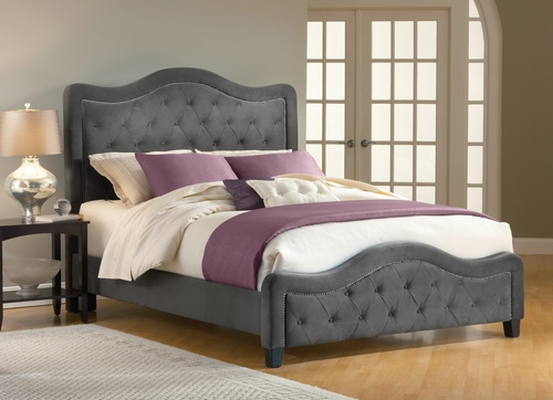 Trieste King Size Fabric Bed - Hillsdale Furniture - 1638BKRT