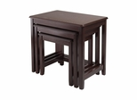 Trina 3Pc Nesting Table Set - Winsome Trading - 40322